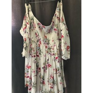 Torrid white floral dress